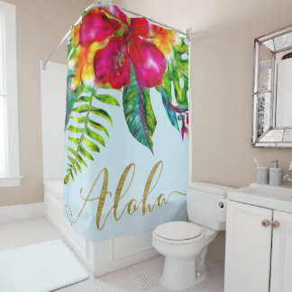 Aloha Bright Electric Pop Tropical Floral