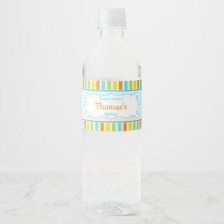 Aloha Cute Boy Water Bottle Label