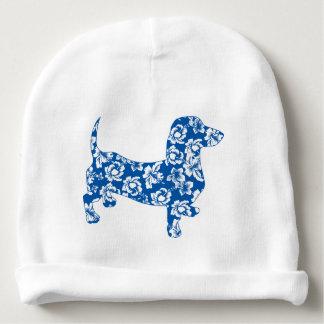 Aloha-Doxie-Blue Baby Beanie