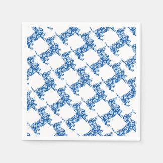 Aloha-Doxie-Blue Disposable Napkins