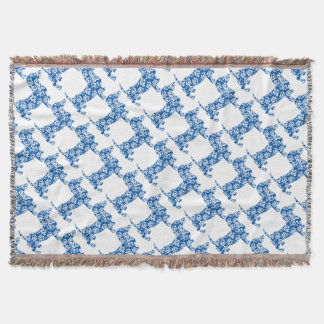 Aloha-Doxie-Blue Throw Blanket