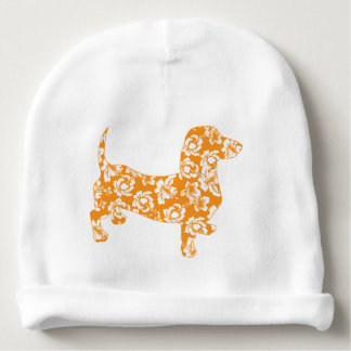 Aloha-Doxie-Orange Baby Beanie