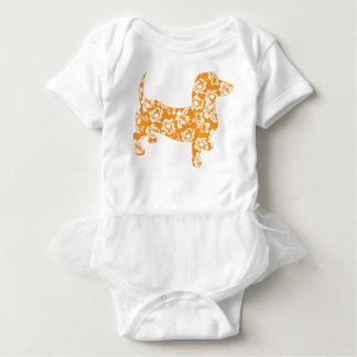 Aloha-Doxie-Orange Baby Bodysuit