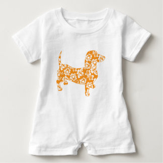 Aloha-Doxie-Orange Baby Romper
