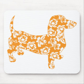 Aloha-Doxie-Orange Mouse Pad
