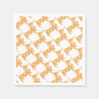 Aloha-Doxie-Orange Paper Napkins