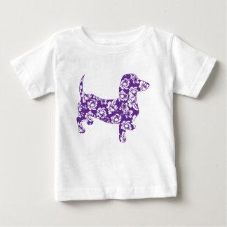 Aloha-Doxie-Purple Baby T-Shirt