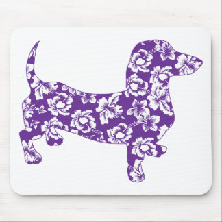 Aloha-Doxie-Purple Mouse Pad