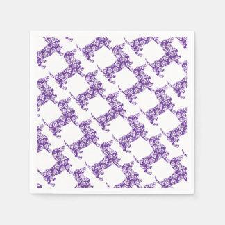 Aloha-Doxie-Purple Paper Napkins