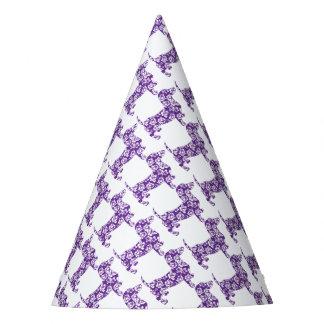 Aloha-Doxie-Purple Party Hat