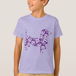 Aloha-Doxie-Purple T-Shirt