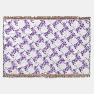 Aloha-Doxie-Purple Throw Blanket