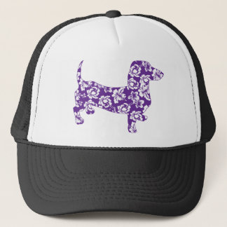 Aloha-Doxie-Purple Trucker Hat