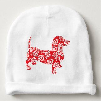 Aloha-Doxie-Red Baby Beanie