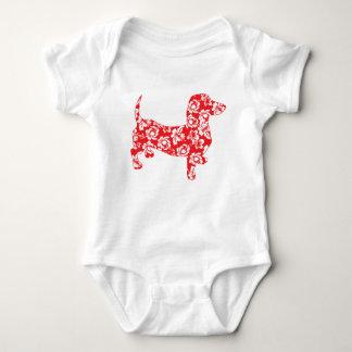 Aloha-Doxie-Red Baby Bodysuit