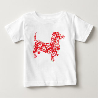 Aloha-Doxie-Red Baby T-Shirt