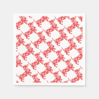 Aloha-Doxie-Red Disposable Napkins