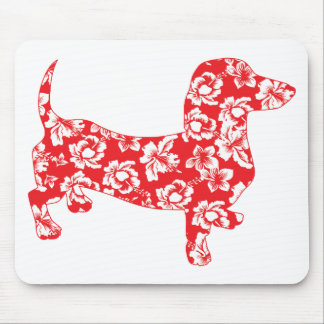 Aloha-Doxie-Red Mouse Pad