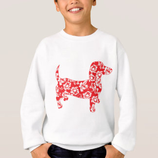 Aloha-Doxie-Red Sweatshirt