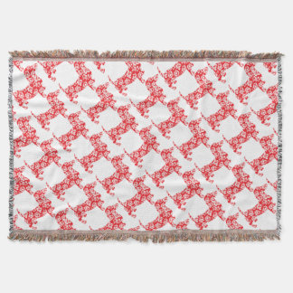 Aloha-Doxie-Red Throw Blanket