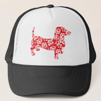 Aloha-Doxie-Red Trucker Hat