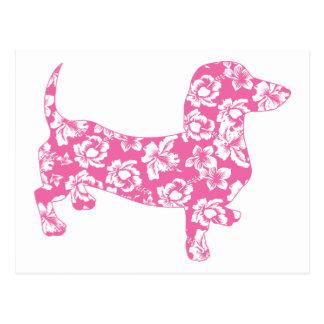 Aloha Doxies Pink Postcard