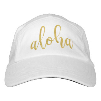 Aloha fancy faux gold glitter pastel pineapple hat