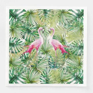 Aloha Flamingo Bird Animal in Jungle Paper Dinner Napkin