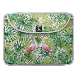 Aloha Flamingo Bird Animal in Jungle Sleeve For MacBooks