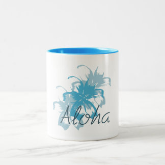 Aloha Floral Two-Tone Coffee Mug