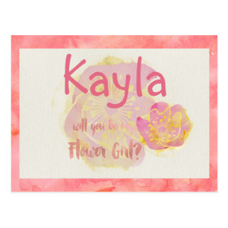 Aloha Flower Girl Postcard