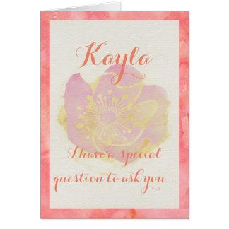 Aloha Flower Girl Question Card