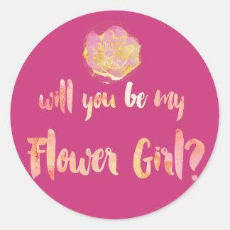 Aloha Flower Girl Question Round Sticker