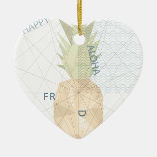 Aloha Friday Ceramic Heart Ornament