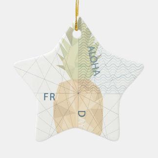 Aloha Friday Ceramic Star Ornament