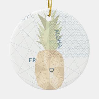 Aloha Friday Round Ceramic Ornament