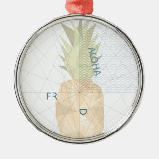 Aloha Friday Silver-Colored Round Ornament