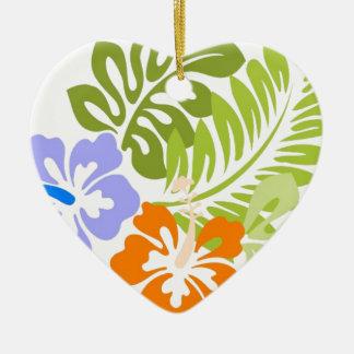 Aloha from Hawaii Ceramic Heart Ornament
