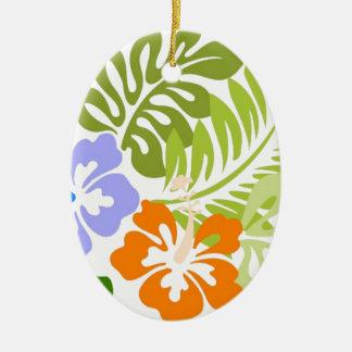 Aloha from Hawaii Ceramic Oval Ornament