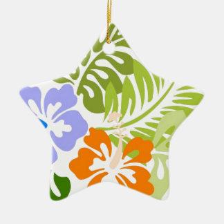 Aloha from Hawaii Ceramic Star Ornament