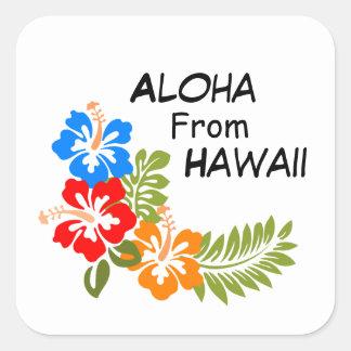 Aloha From Hawaii Square Sticker