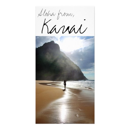 Aloha from Kauai Customized Photo Card