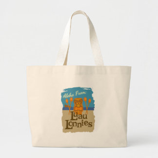 Aloha from Luau Lonnies Large Tote Bag
