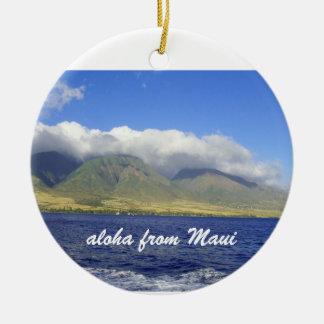 Aloha from Maui Ceramic Ornament