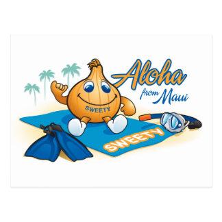aloha from sweety postcard