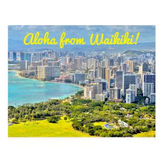 Aloha From Waikiki Postcard
