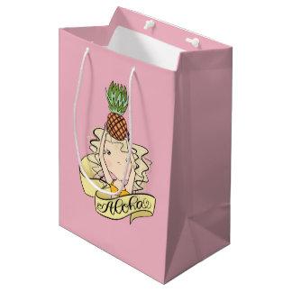 Aloha Girl With Pineapple Medium Gift Bag