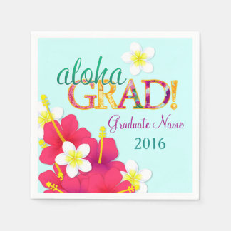Aloha Grad Hawaiian Luau Napkins Disposable Napkin