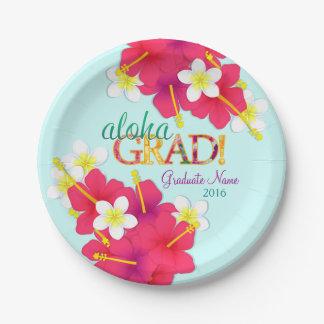 Aloha Grad Hawaiian Luau Plates