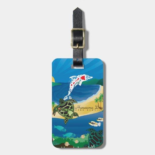 Aloha Hanauma Bay Hawaii Islands Luggage Tag
